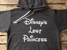 Disney's Lost #Princess Light Weight Hoodie Made by THINK ELITE Style and comfort are the perfect words to describe this unbelievably cute hoodie. The light knit gives it an incredibly soft hand that d