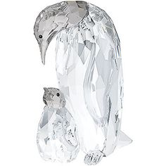 This beautiful design captures a special moment between an Emperor Penguin and her chick. It sparkles beautifully in clear crystal with a Satin... Shop now