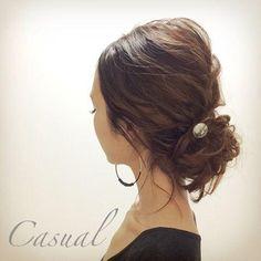 アクセサリーも上手に使って♡ミディアムヘアさんのアレンジ術。ゆるアップの参考♡ Bridesmaid Hair, Prom Hair, Bride Hairstyles, Easy Hairstyles, Hair Arrange, Hair Setting, Wedding Hair Inspiration, Hair Game, How To Make Hair