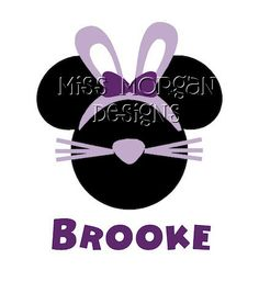 Personalized Easter Minnie Mouse Disney iron on by MissMorgan