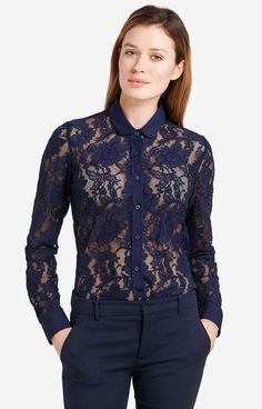 Granatowa koszula damska LAMBERT DL35LB7944