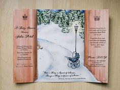 Great Narnia baby shower invitation by http://www.kimwinder.com/