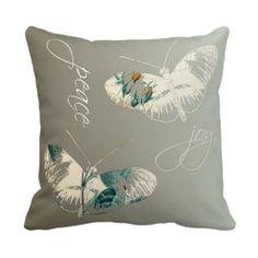 Peace and Joy Butterflies Pillow