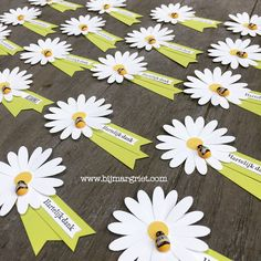 Bij Margriet; Stampin' Up!, Daisy Punch, Margriet Pons, tag, label