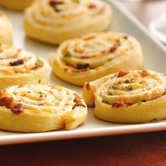 Bacon-Cheddar Pinwheels - Pillsbury® refrigerated crescent dinner rolls, ranch dressing, real bacon pieces, finely shredded Cheddar cheese, chopped green onions
