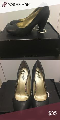 *REDUCED* Seychelles black leather password pump Black leather round toe pump with thick 3 1/2 in heel. Worn max 5 times. Kept in shoebox with dust bag. Comfortable shoe! Seychelles Shoes Heels