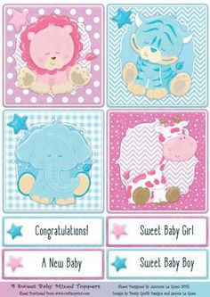 4 Sweet Baby Mixed Toppers on Craftsuprint - View Now!