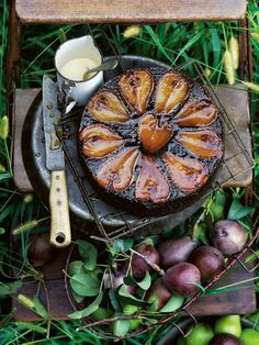 Upside Down Chocolate Hazelnut And Pear Cake | Donna Hay