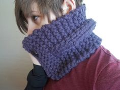 Blue Cowl scarf neck warmer hand crocheted  by BlackRavenCreations, $17.00