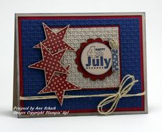 4th of july card. super cute layout, could be used for birthday or graduation celebration as well.