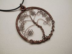 Copper Celtic Tree of Life Wire Wrapped Pendant by AnnaWireJewelry, $27.99