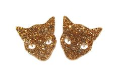 Cat Jewelry // Glitter Kitty Collar Tips by FelineFataleShop, £15.00