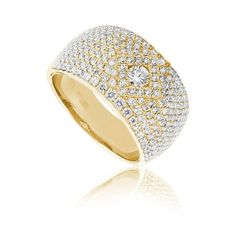 Winona diamond ring Availability: In stock Truly avant-garde this diamond ring feature 189 round hand picked ideal cut diamonds set in 14K Gold, total weight 1.26ctw  $2666.51