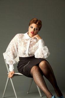 High Waist Pencil Skirt-Plus Size-by Jibri