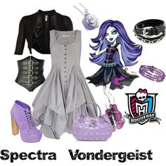 """Spectra Vondergeist- Monster High"" by jessica-harley on Polyvore"