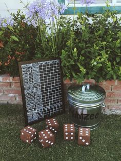 Yard Yahtzee - Play the game on a large scale! Yard Yahtzee - Play the game on a large scale! Diy Yard Games, Lawn Games, Diy Games, Backyard Games, Outdoor Games, Outdoor Fun, Party Games, Giant Yard Games, Backyard Bbq