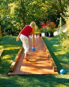 DIY Outdoor Bowling Alley.. - Dreaming Gardens