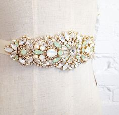 Hey, I found this really awesome Etsy listing at https://www.etsy.com/listing/220890463/opal-crystal-bridal-belt-swarovski