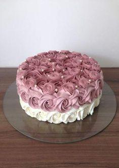 New cake designs birthday simple ideas Easy Cake Decorating, Birthday Cake Decorating, Cake Decorating Techniques, Decorating Ideas, Birthday Decorations, Fondant Cakes, Cupcake Cakes, Cake Cookies, Birthday Cake For Mom