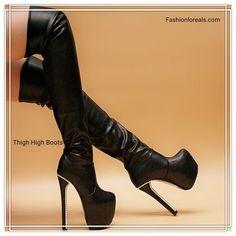 248c5b2106b Hot Fahsion Women Shoes High Heels Pu Leather Over Knee Boots Platform Side  Zip