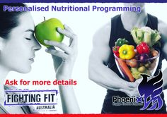 - NUTRITION CONSULTING -  We are now taking bookings.  The software we use is a well structured, professional program aimed at obtaining results for all individuals, your program will provide a breakdown of macro nutrients, & are specifically calorie controlled per your needs.  No matter how simplistic or complex your goals might be…our goal is to help you reach yours.   Find out what we can do for you today.  Contact info@fightingfit.net.au or call 0421 931 182.