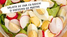 Salata de ouă cu ridichi și dressing de muștar Cooking Recipes, Green, Food Recipes, Chef Recipes, Recipes, Recipies