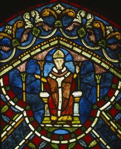 St Thomas Becket, stained glass, Trinity Chapel, Canterbury Cathedral ...