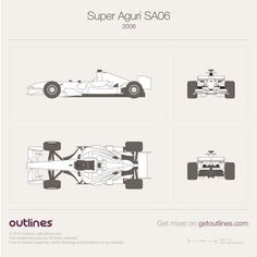 Super Aguri F1 SA06 vector PDF templates