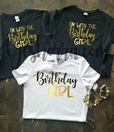 Birthday Group Shirts Party Shirt Women Crew Squad Im With The Girl