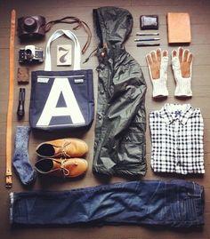 Casual men wardrobe essentials.