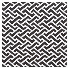 Style Tile 2.0, Fabric Board 16x16, Links A Lot, Black/White