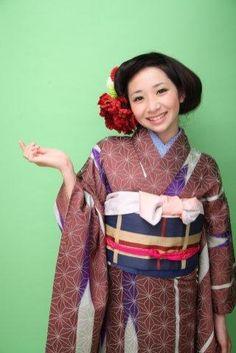 Japanese traditional patterned Kimono