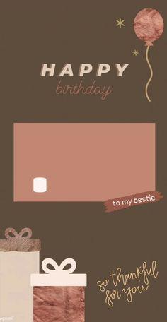 Happy Birthday Template, Happy Birthday Frame, Happy Birthday Posters, Happy Birthday Wallpaper, Birthday Posts, Birthday Frames, Birthday Collage, Birthday Captions Instagram, Birthday Post Instagram