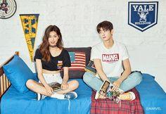 Doyeon & Eunwoo for Polham 2018 Summer collection. Ulzzang Couple, Ulzzang Girl, Kpop Fashion, Korean Fashion, Eunwoo Astro, Kim Doyeon, Cha Eun Woo Astro, Hallyu Star, Korean Couple