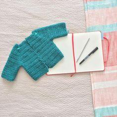 Patron de tejido: Como tejer cardigan para bebe - Marina Torreblanca Blog