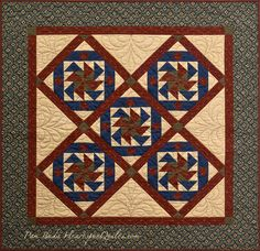 Square Dance ~ Journey Five of the Prairie Women's Sewing Circle club by Pam Buda of HeartspunQuilts.com