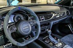 Audi RS6 Avant performance interior with Alcantara steering wheel.  Photo: @audineckarsulm  For more Audi photos follow: @audiengine @audipixs @audi_regram @food4audis Audi A6 Rs, Audi Rs6, Automobile, Steering Wheels, Mk1, Future Car, Supercars, Motorbikes, Cars Motorcycles