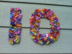 made these with hawian flowers and card board