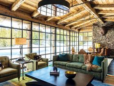 1,750-Square-Foot Cabin, living space