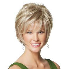 Short, face-framing shag reflects the straight, smooth cuts featured on the latest fashion runways. #hair #wig #paulayoung