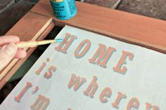 Paint your favorite quote on an old window to bring new inspiration to any room. #WhyReStore