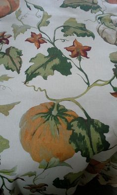 "Cynthia Rowley 100% Cotton Cream rust green Pumpkin Vine Tablecloth 90"" Sq.  NWT #CynthiaRowley Pumpkin Vine, Green Pumpkin, Cynthia Rowley, Rust, Vines, Cream, Cotton, Painting, Beautiful"