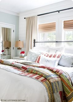 Thrifty Decor Chick: master bedroom -- The Lettered Cottage Master Bedroom inspiration.  Lovely~~~