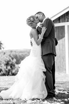 You May Kiss Your Bride ♡  #Weddings #Bride #Groom #TheKiss