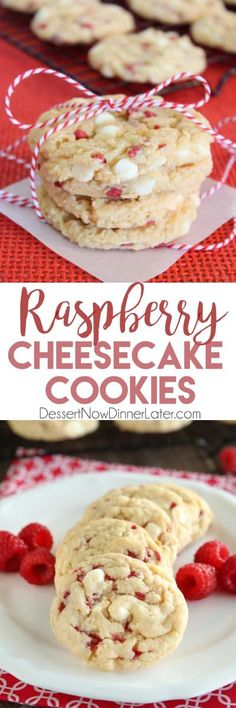 Raspberry Cheesecake Cookies are soft, chewy, and fruity! The best part is that … Raspberry Cheesecake Cookies are soft, chewy, and fruity! The best part is that they are made with a muffin mix which makes it a super easy dessert! Raspberry Cookies, Raspberry Recipes, Subway Raspberry Cheesecake Cookies, Raspberry Dessert Recipes, Raspberry Buttercream, Raspberry Chocolate, Raspberry Sauce, Oreo Cheesecake, Pumpkin Cheesecake
