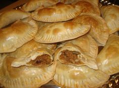 Cuban Empanadas, Cuban Meat Pies, Empandas Cubanas This recipe for Cuban Empanadas is my own tweaked version. I took my Mother-in-laws recipe and changed it adding some non-traditional ingredients such as sauce and some Lea & P A1 Steak Sauce, Sazon Seasoning, Cuban Recipes, African Recipes, Beef Recipes, Honduran Recipes, Hamburger Recipes, Recipies, Cooking Recipes