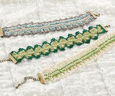 Hairpin lace bracelets pattern with pdf