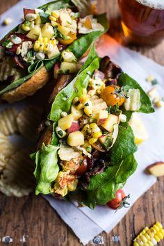 BLT and Potato Chip Lobster Rolls with Peach Salsa | halfbakedharvest.com @hbharvest