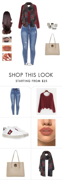"""""""Yang Dail - lie"""" by kyndraxsvt ❤ liked on Polyvore featuring Gucci, French Kiss, Fendi and Topshop"""