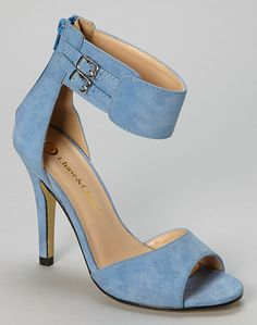 Blue Monica Ankle Cuff Pump